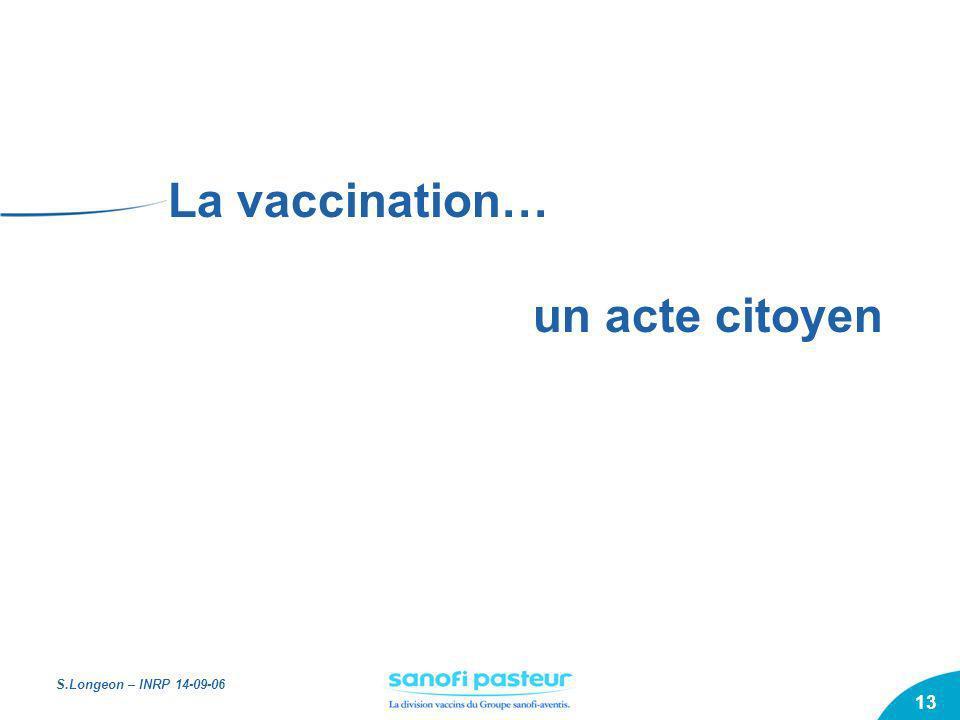 La vaccination… un acte citoyen