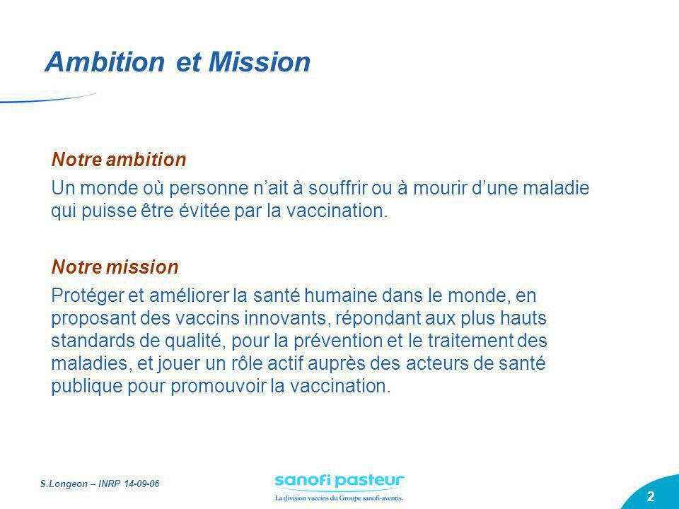 Ambition et Mission Notre ambition