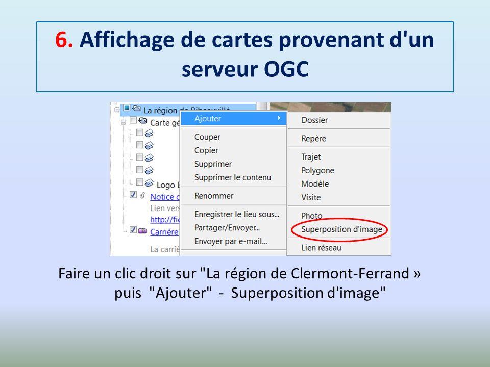 6. Affichage de cartes provenant d un serveur OGC