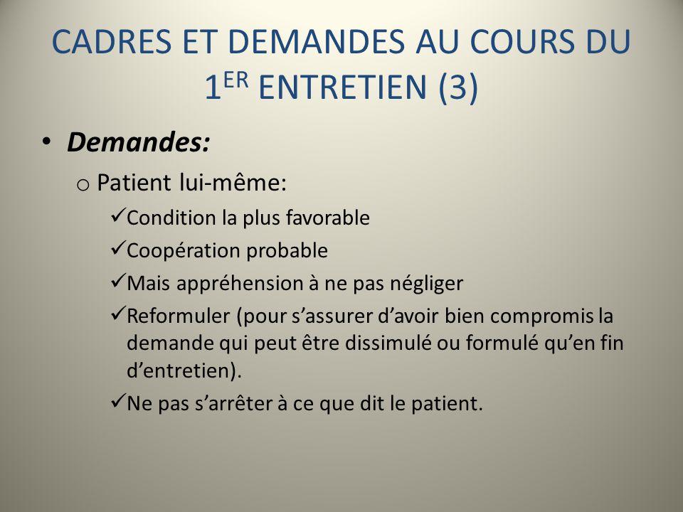 CADRES ET DEMANDES AU COURS DU 1ER ENTRETIEN (3)