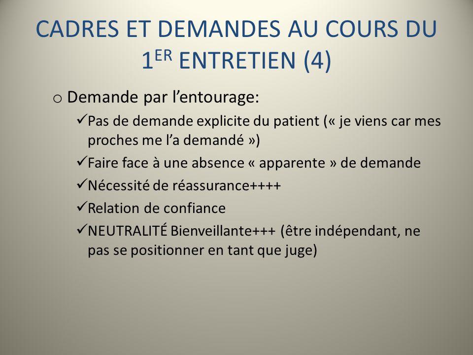 CADRES ET DEMANDES AU COURS DU 1ER ENTRETIEN (4)