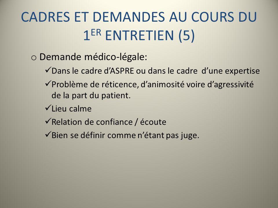 CADRES ET DEMANDES AU COURS DU 1ER ENTRETIEN (5)