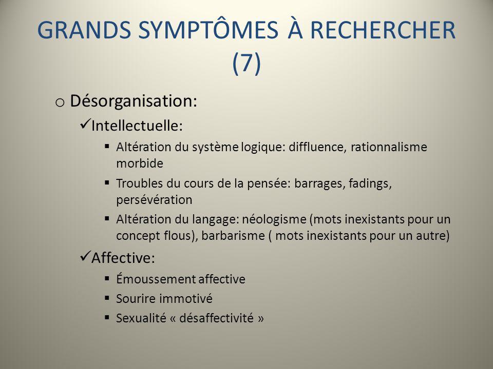GRANDS SYMPTÔMES À RECHERCHER (7)