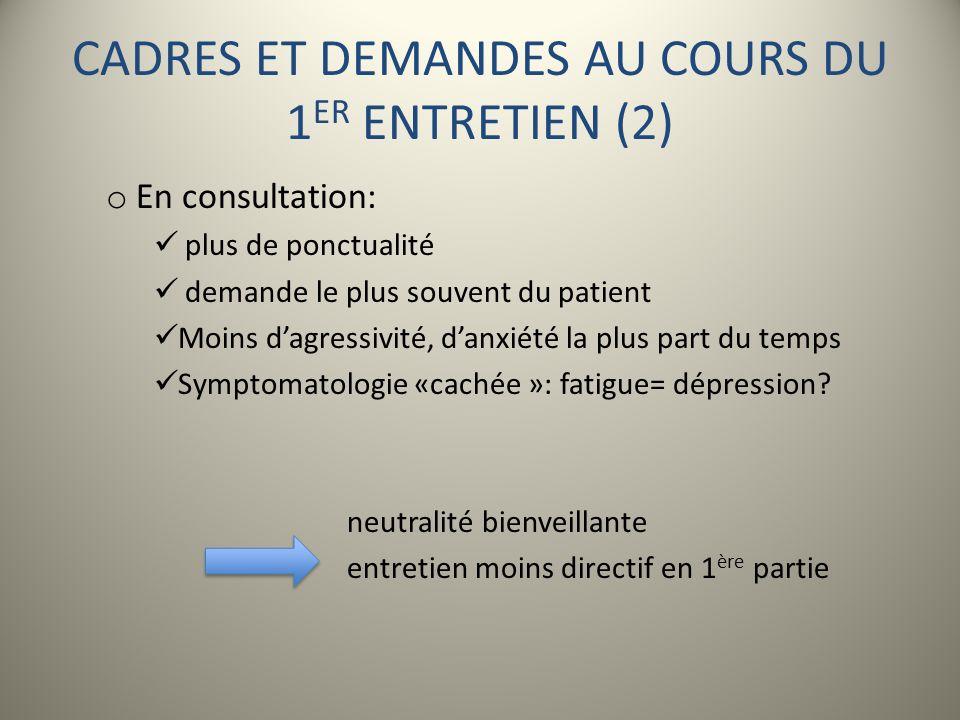 CADRES ET DEMANDES AU COURS DU 1ER ENTRETIEN (2)