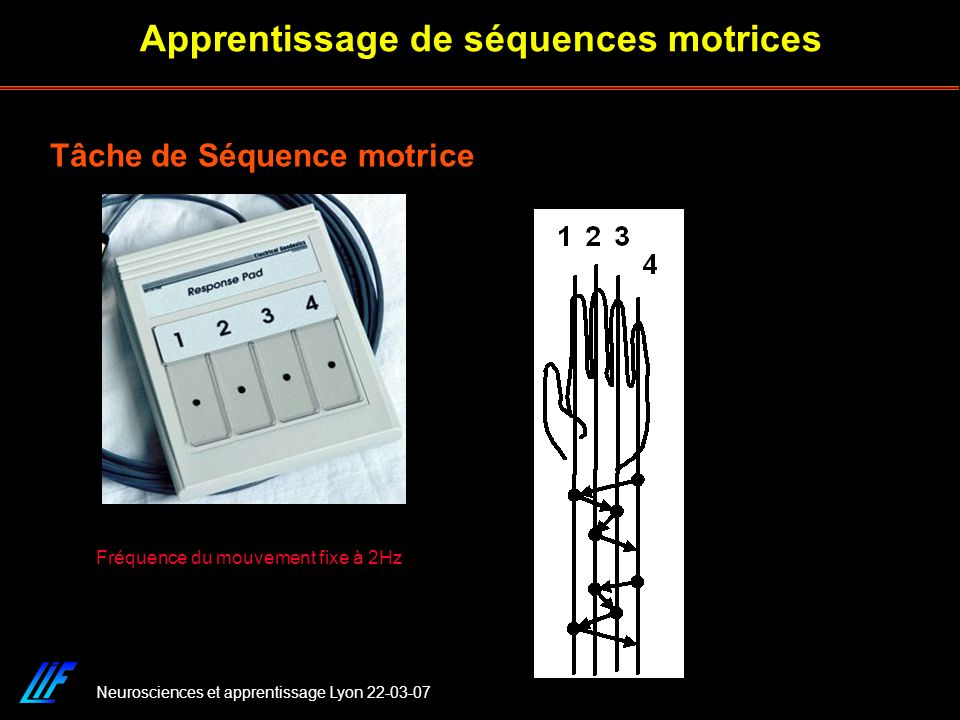 Apprentissage de séquences motrices
