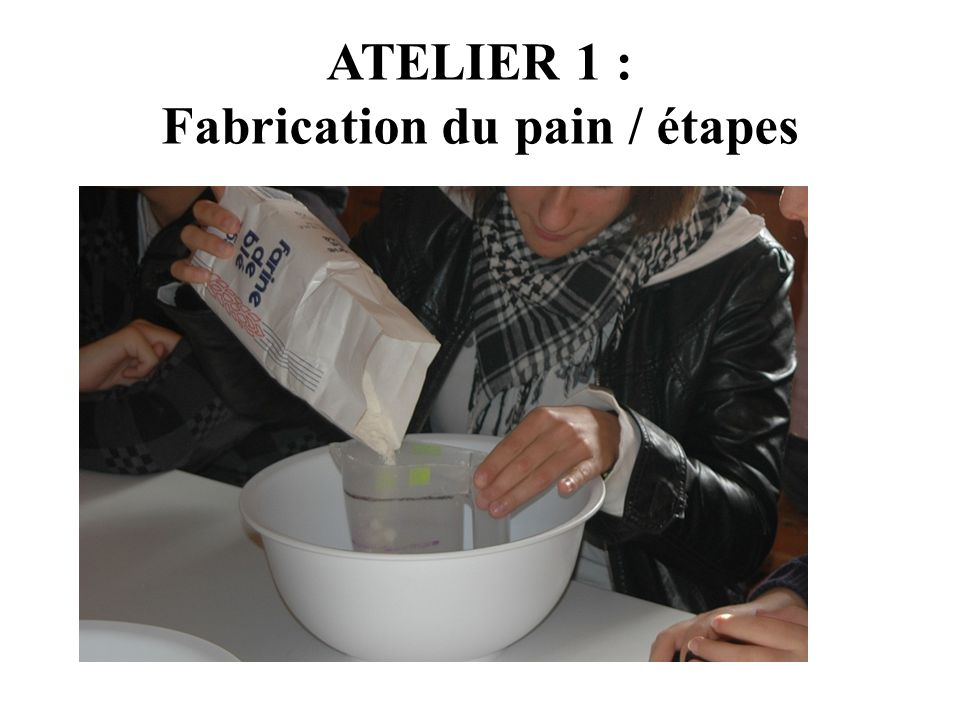 Fabrication du pain / étapes