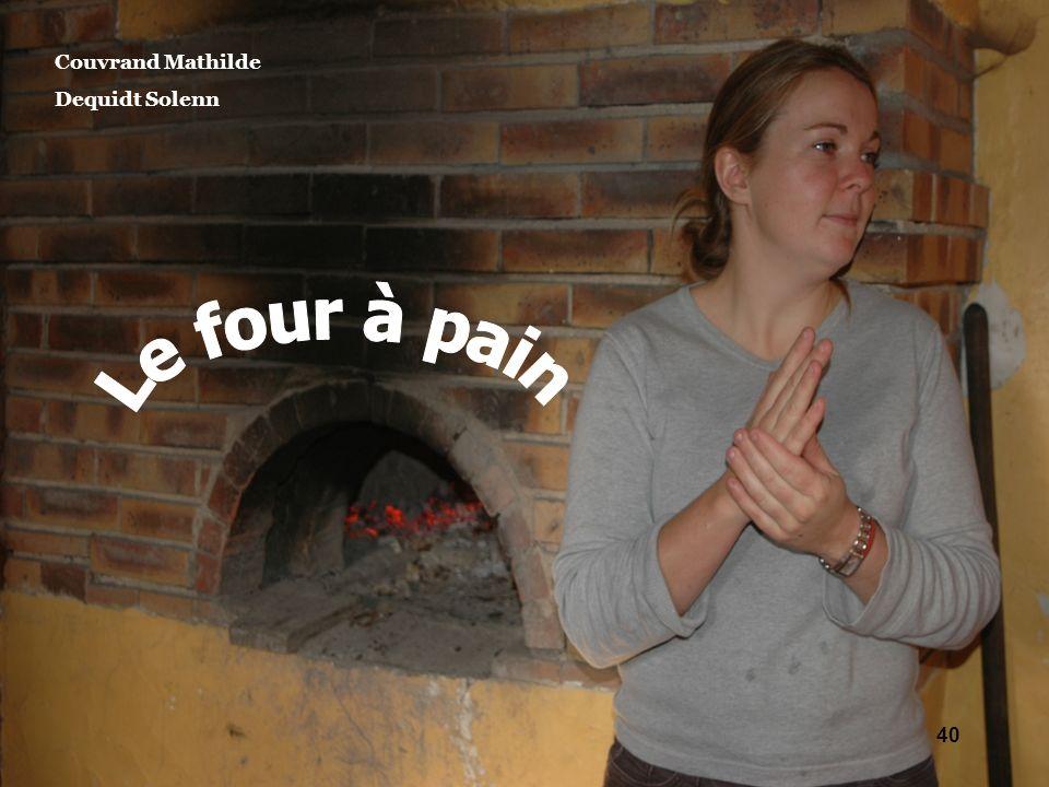 Couvrand Mathilde Dequidt Solenn Le four à pain
