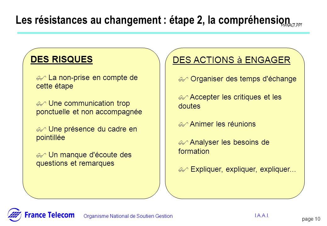 Les résistances au changement : étape 2, la compréhension