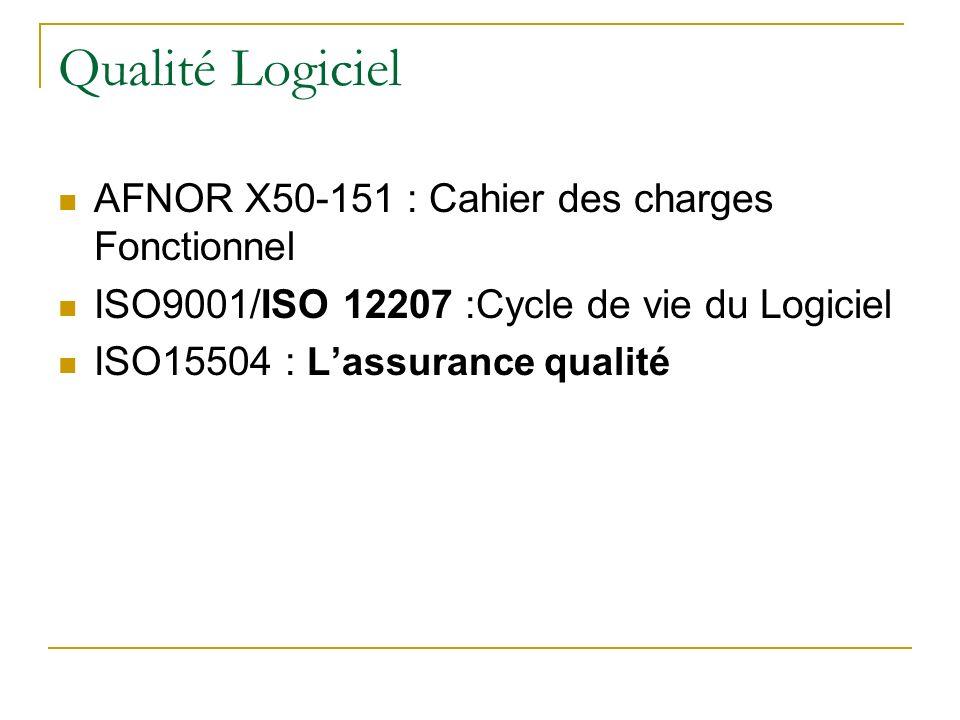 Qualité Logiciel AFNOR X50-151 : Cahier des charges Fonctionnel