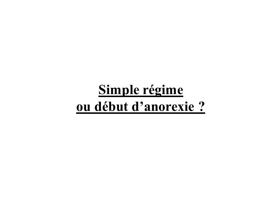 Simple régime ou début d'anorexie