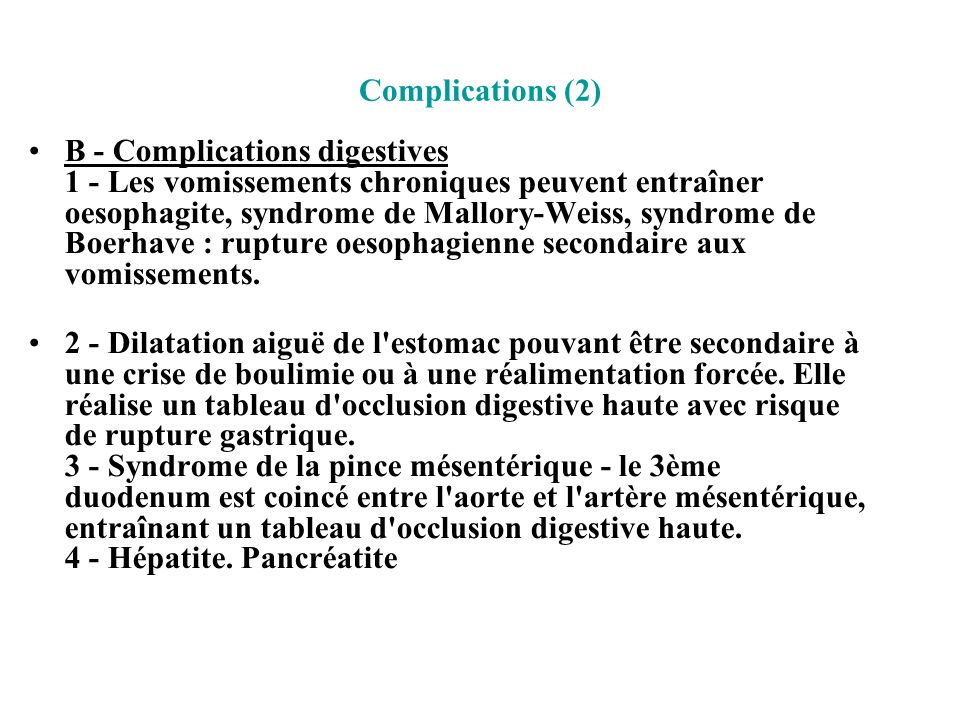 Complications (2)