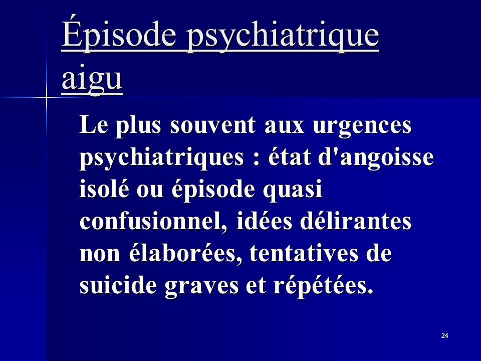 Épisode psychiatrique aigu