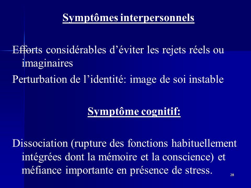 Symptômes interpersonnels