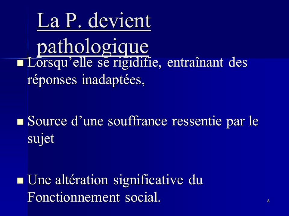 La P. devient pathologique
