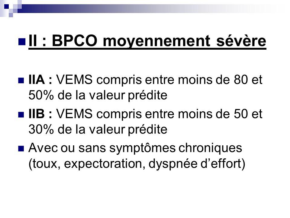 II : BPCO moyennement sévère