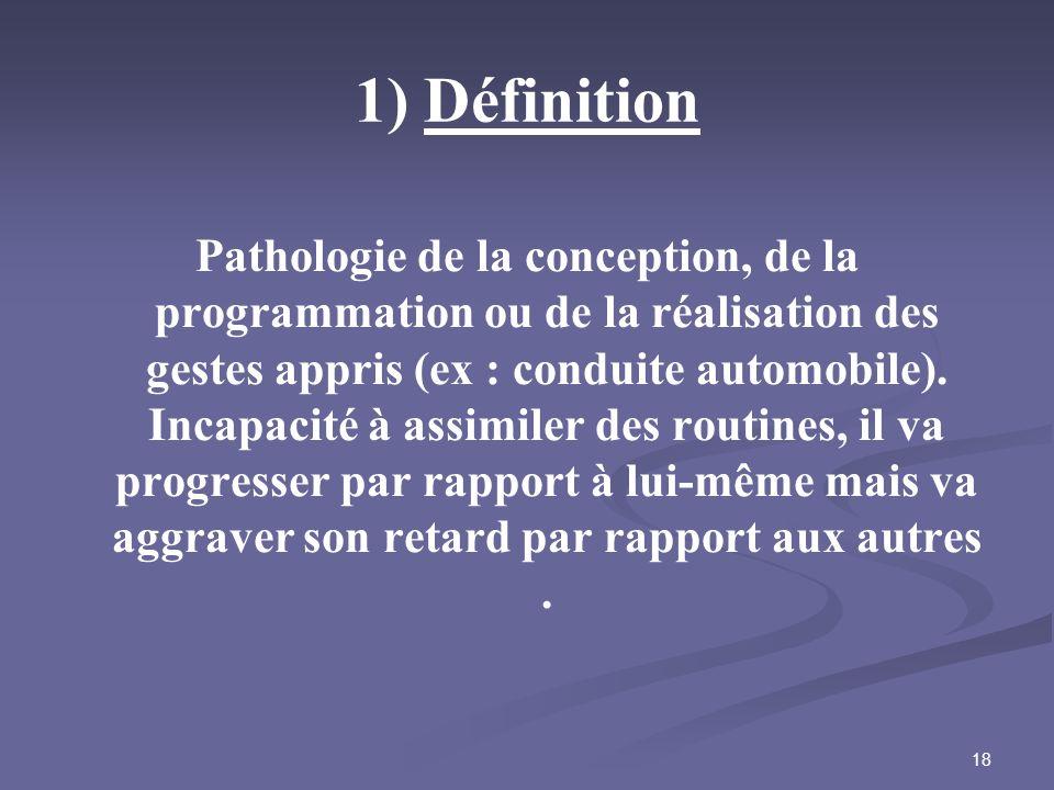 1) Définition