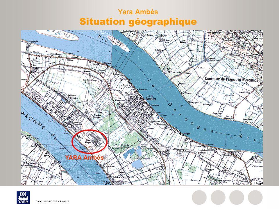 Yara Ambès Situation géographique