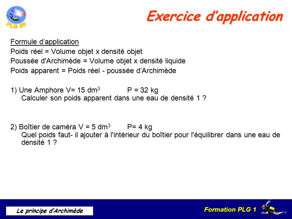 Le principe d archim de ppt video online t l charger for Calculer son volume de demenagement