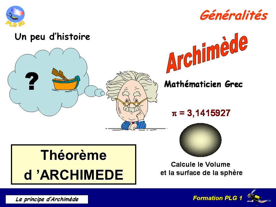 Archimède Théorème d 'ARCHIMEDE Généralités Un peu d'histoire