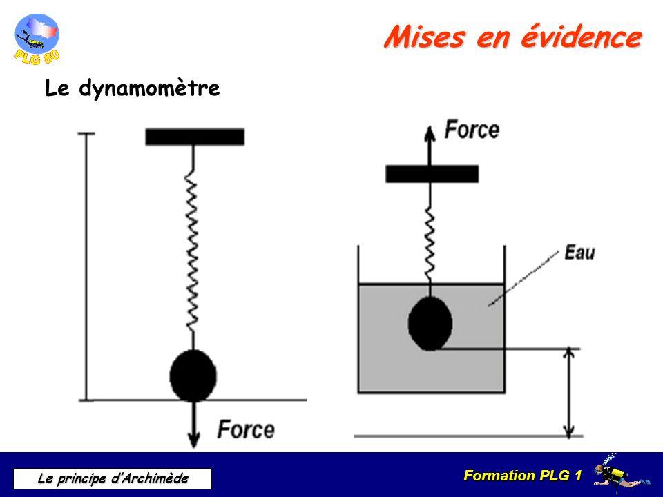 Mises en évidence Le dynamomètre