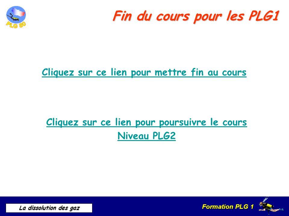 Fin du cours pour les PLG1