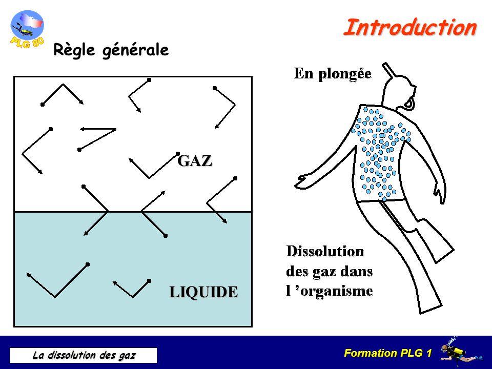 Introduction Règle générale GAZ LIQUIDE