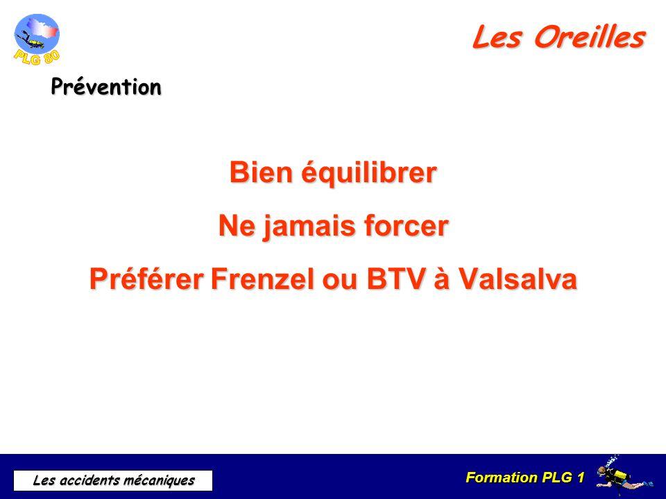 Préférer Frenzel ou BTV à Valsalva
