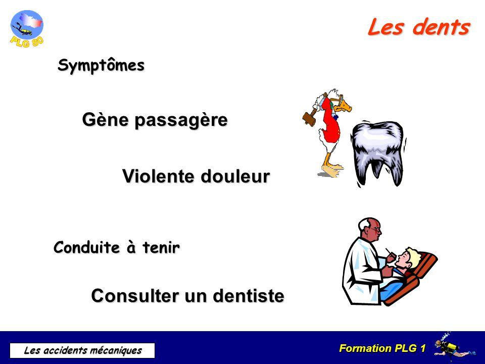 Les dents Gène passagère Violente douleur Consulter un dentiste