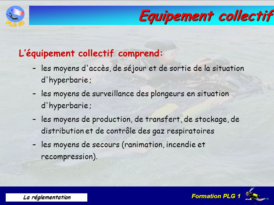 Equipement collectif L'équipement collectif comprend: