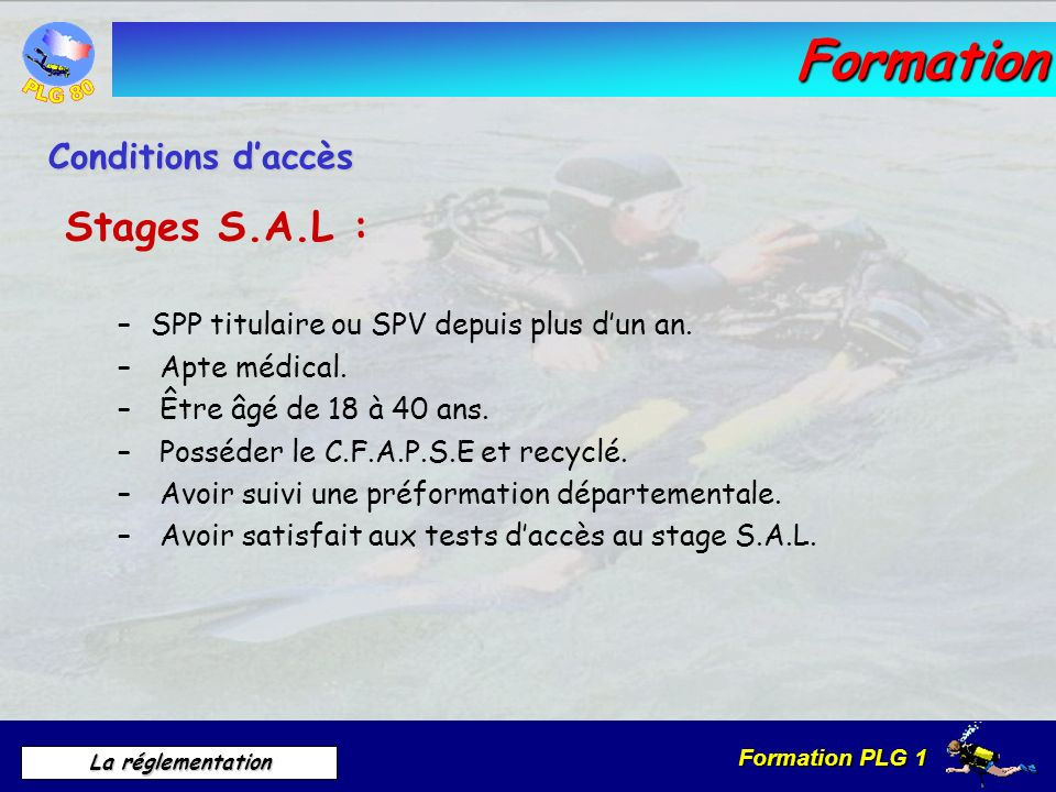 Formation Stages S.A.L : Conditions d'accès