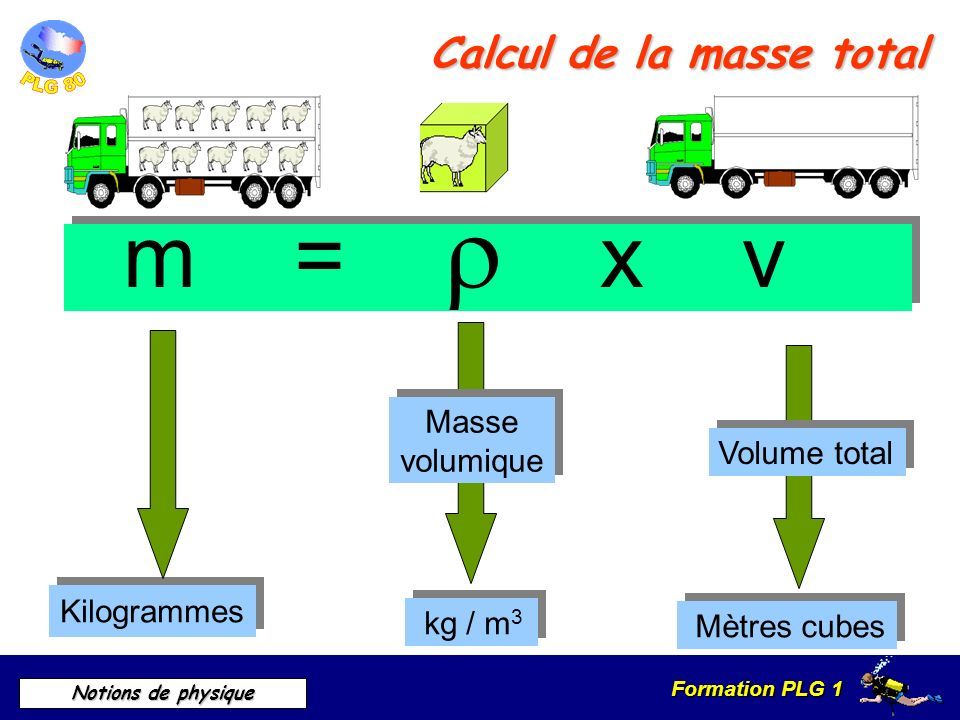 Calcul de la masse total