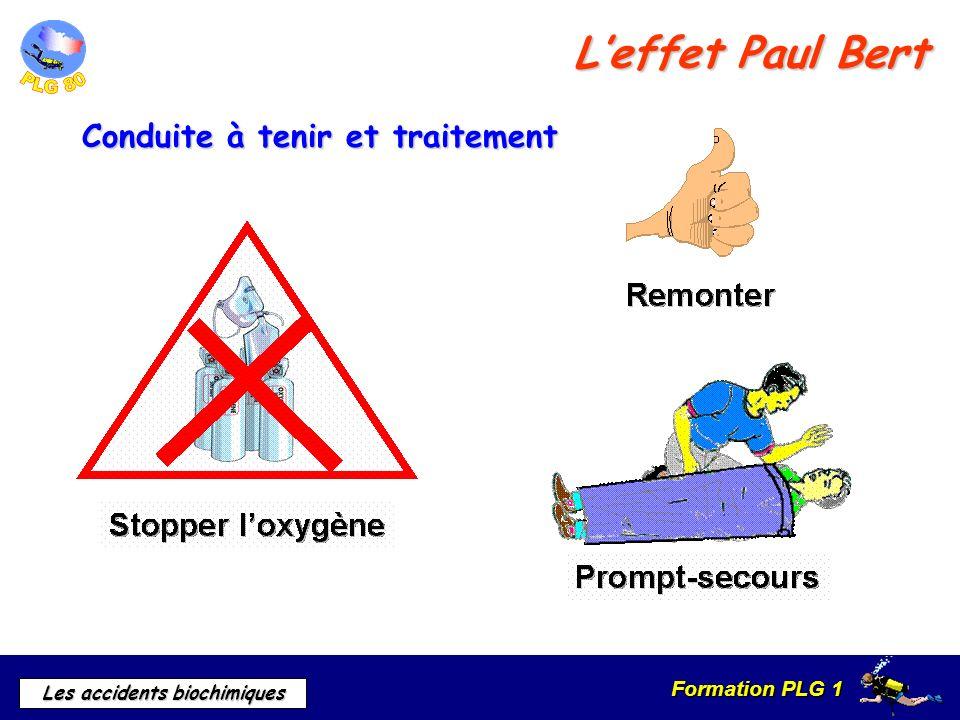 L'effet Paul Bert Conduite à tenir et traitement