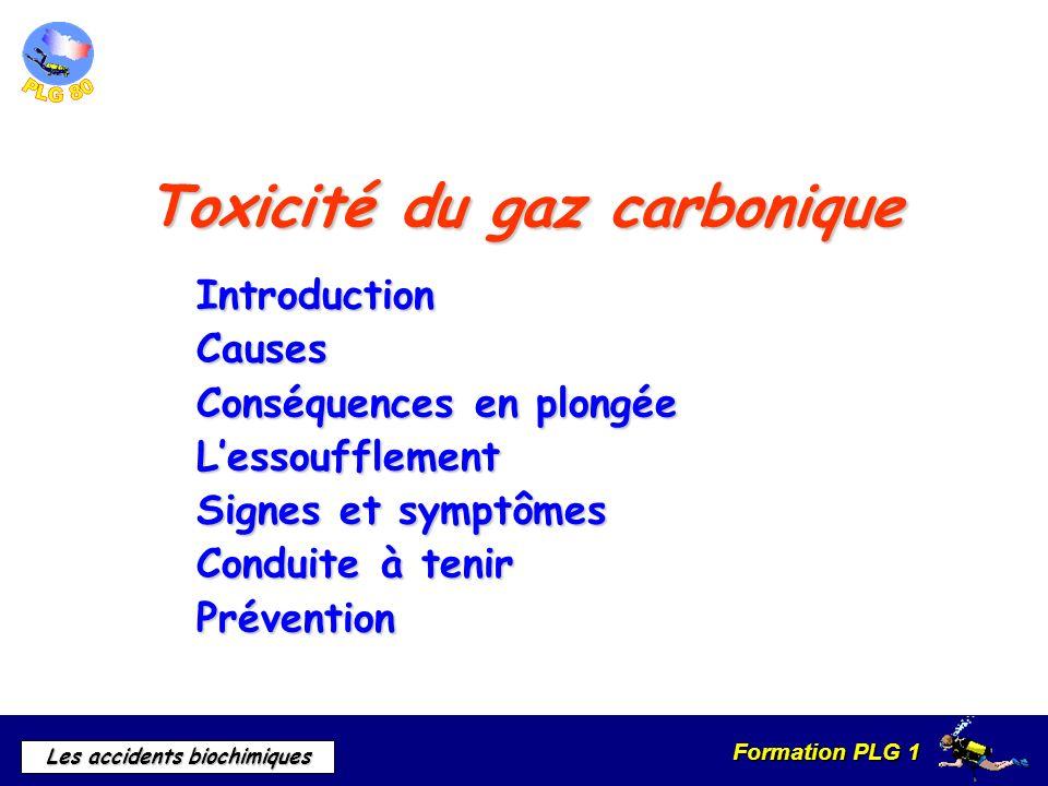 Toxicité du gaz carbonique