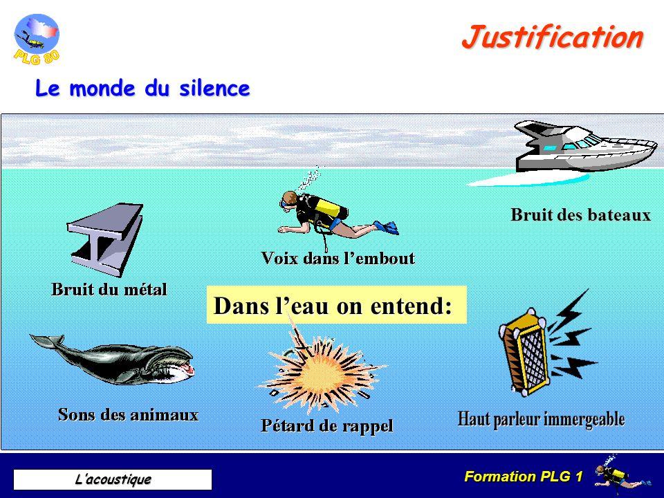 Justification Dans l'eau on entend: Le monde du silence