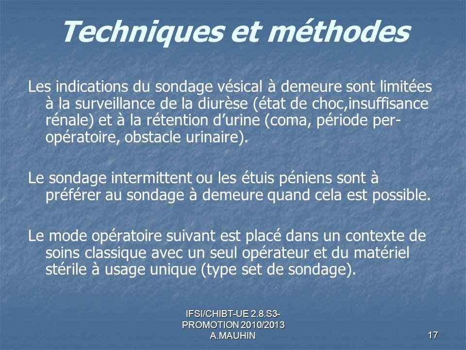 Techniques et méthodes