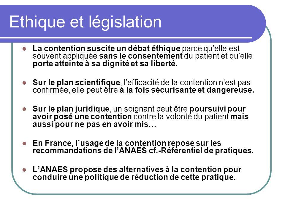 Ethique et législation