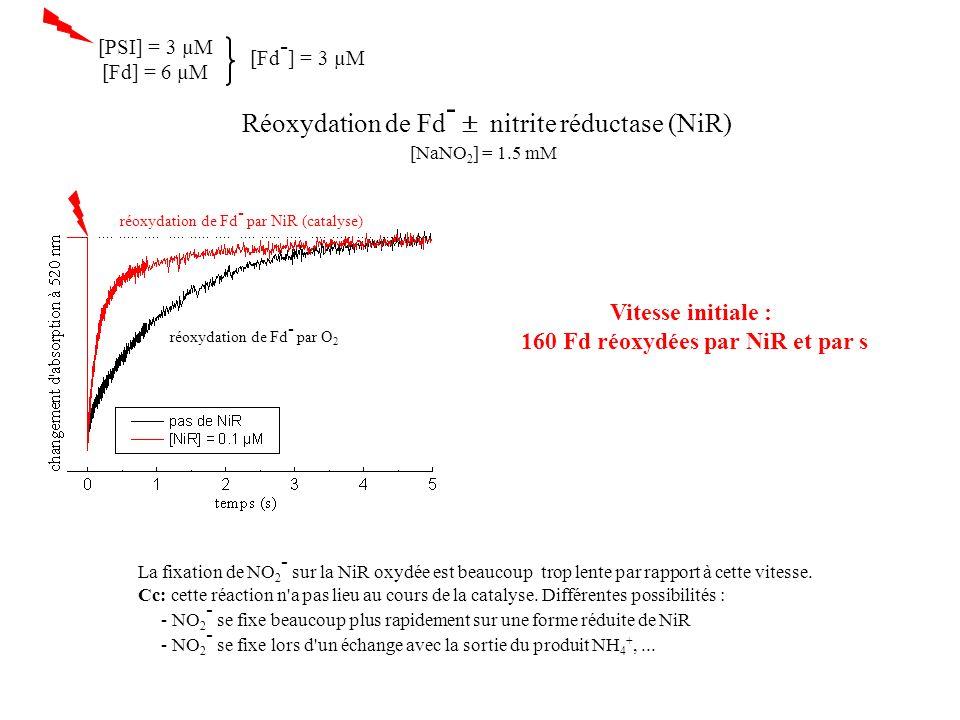160 Fd réoxydées par NiR et par s