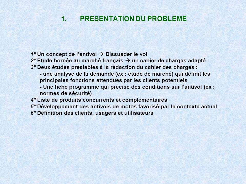 1. PRESENTATION DU PROBLEME