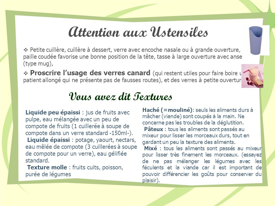 Attention aux Ustensiles