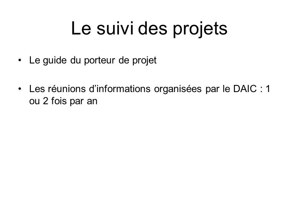 Le suivi des projets Le guide du porteur de projet