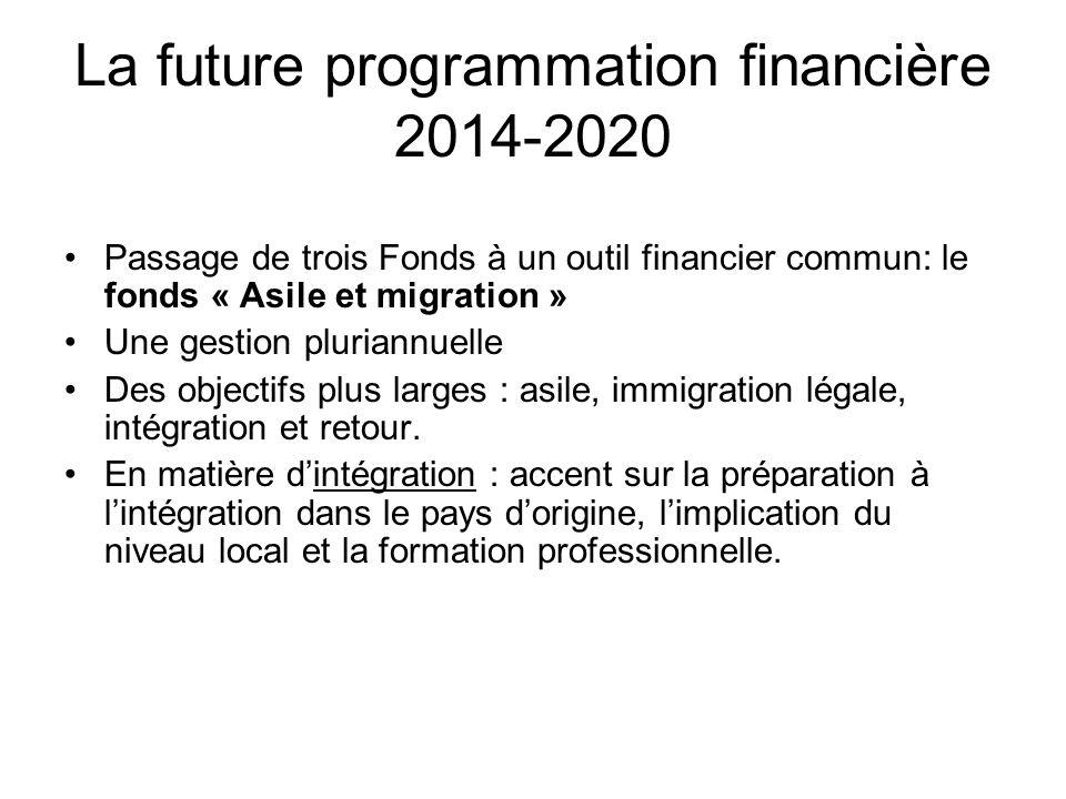 La future programmation financière 2014-2020