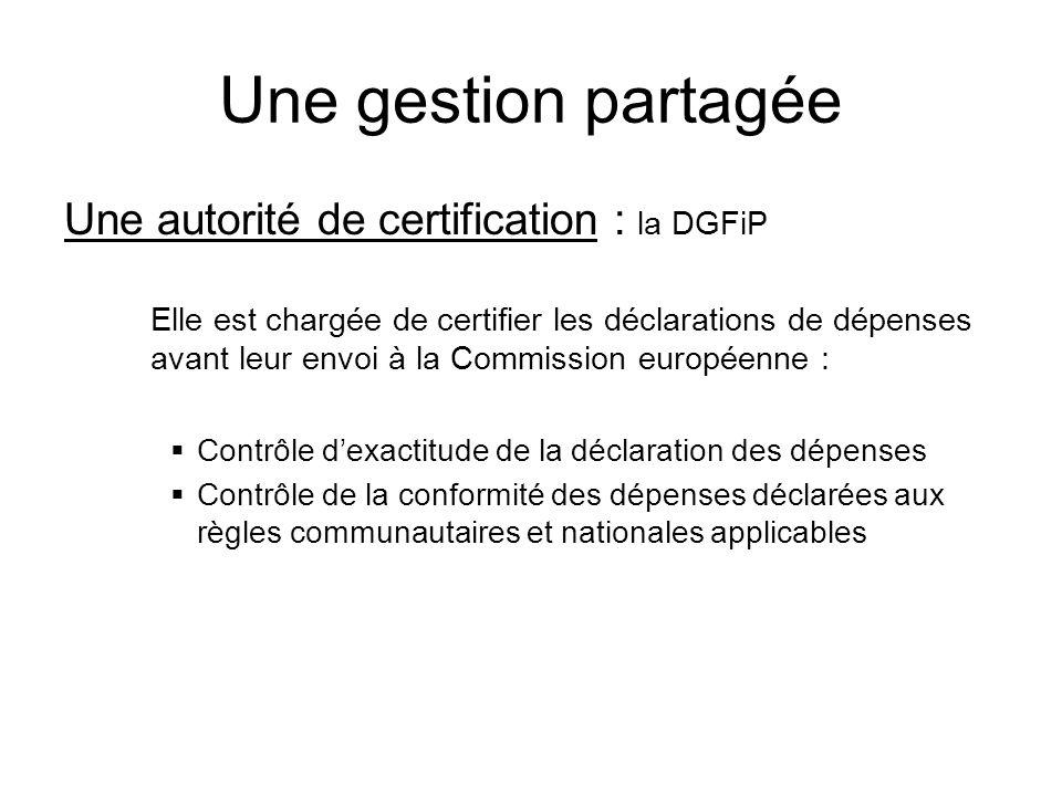 Une gestion partagée Une autorité de certification : la DGFiP