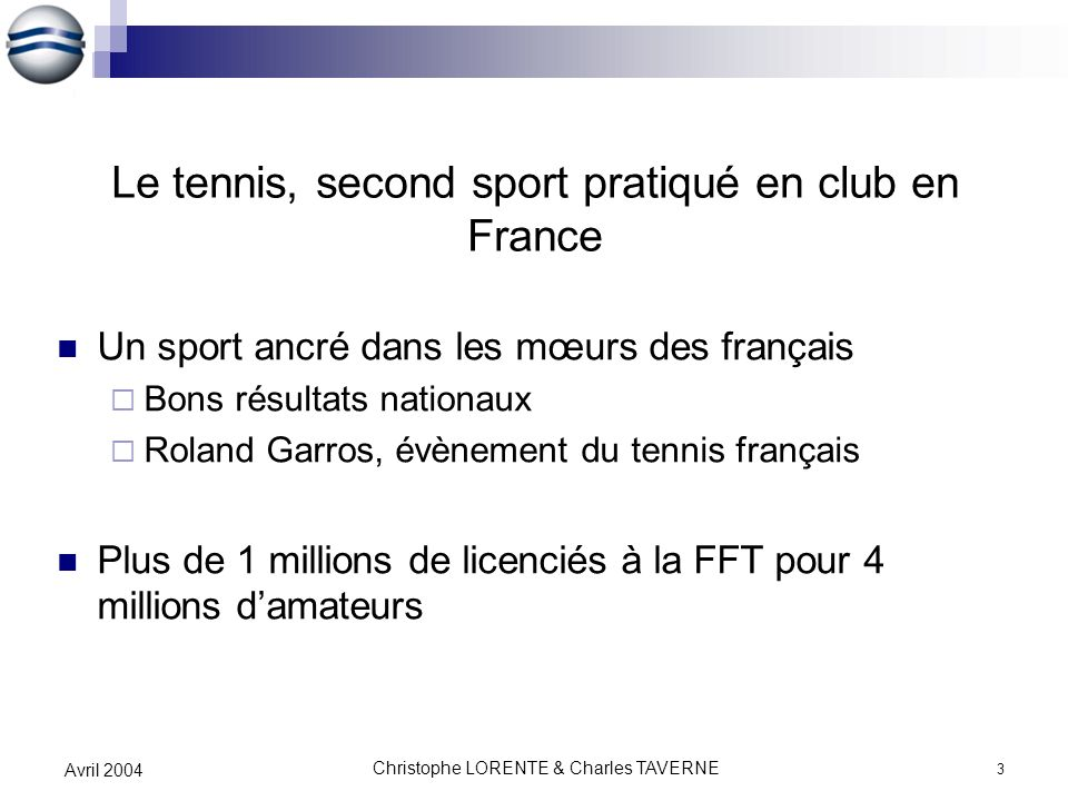 Le tennis, second sport pratiqué en club en France
