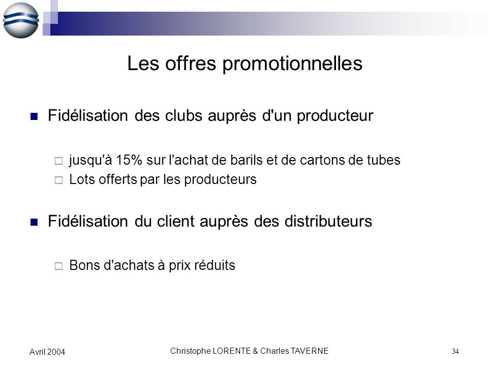 Les offres promotionnelles