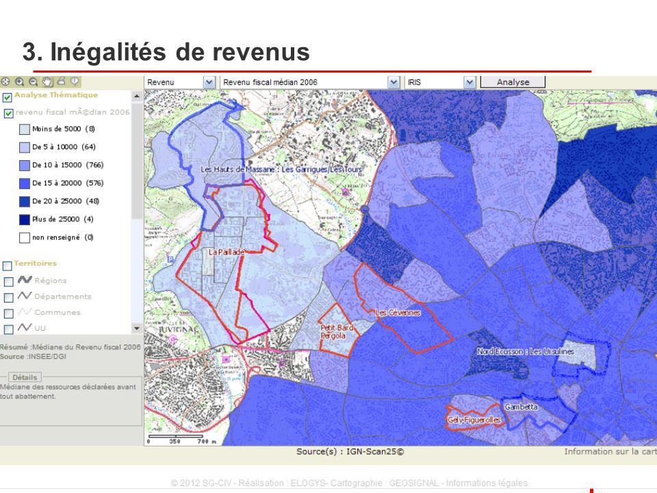 3. Inégalités de revenus 2 Villes et territoires, 22 novembre 2012 2 2