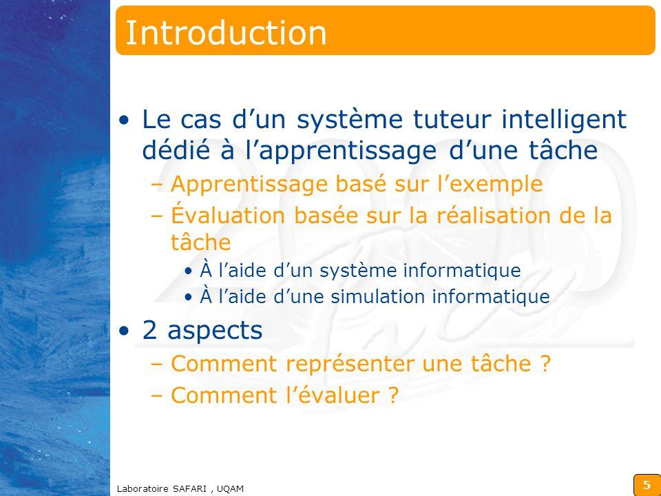 98-12-14 Introduction. Le cas d'un système tuteur intelligent dédié à l'apprentissage d'une tâche.
