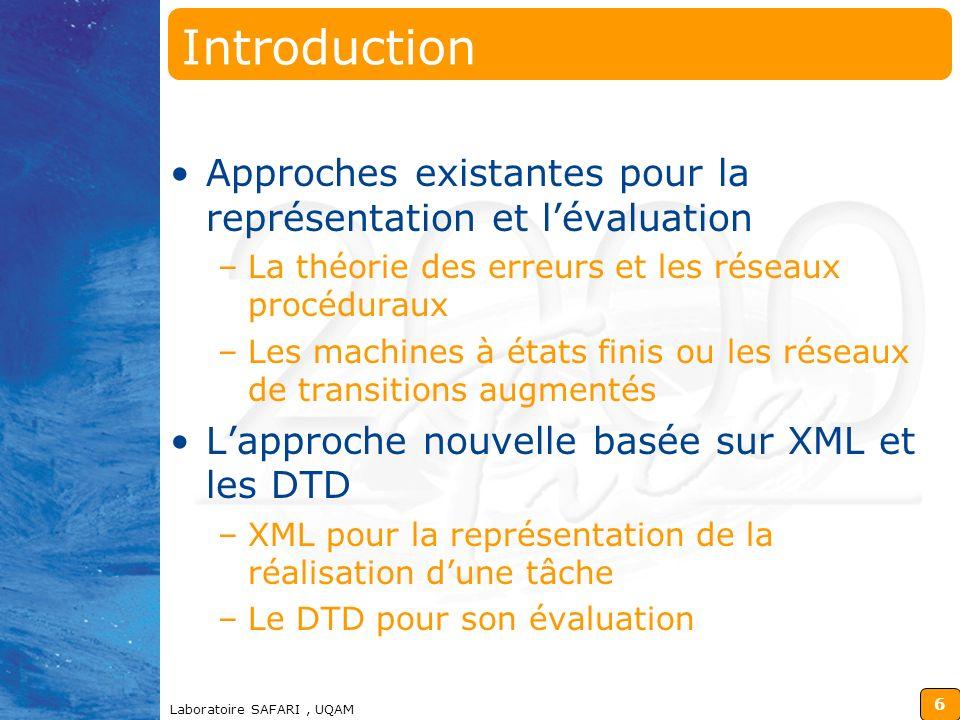 98-12-14 Introduction. Approches existantes pour la représentation et l'évaluation. La théorie des erreurs et les réseaux procéduraux.