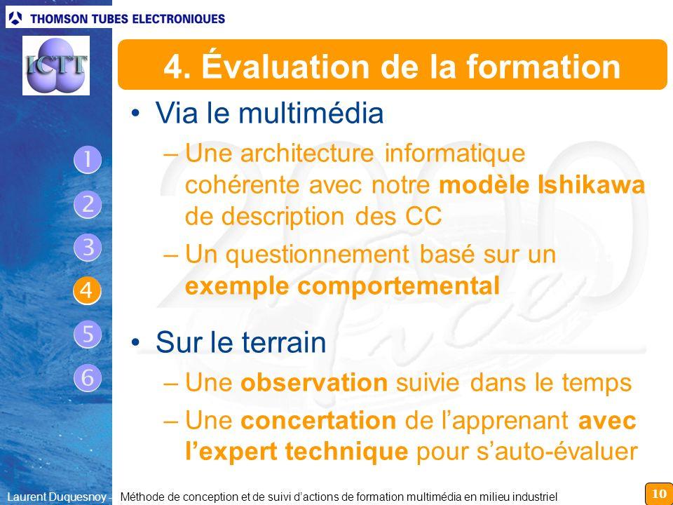 4. Évaluation de la formation