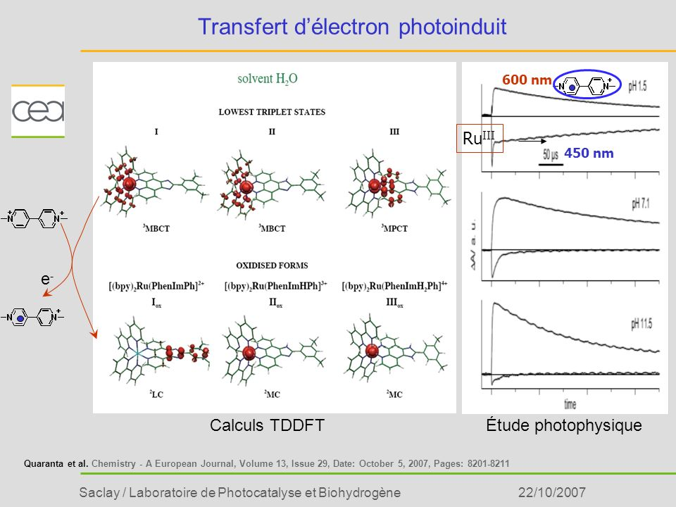 Transfert d'électron photoinduit
