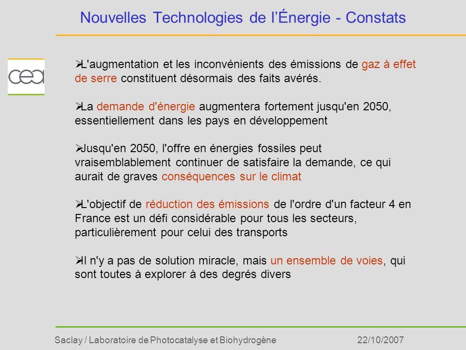 Nouvelles Technologies de l'Énergie - Constats